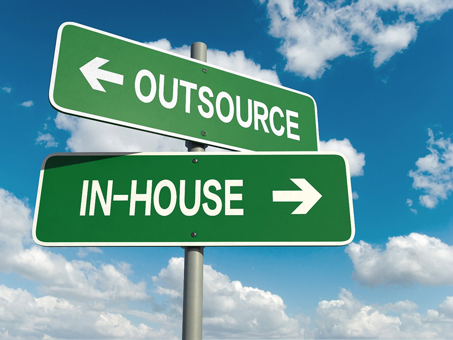 Outsource vs In-house illustration