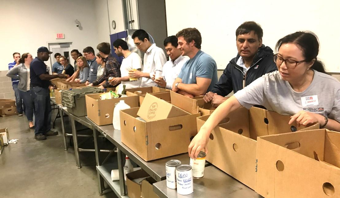 Morphit TX team volunteering at the Food Bank
